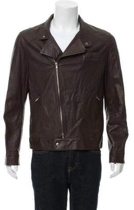 Brunello Cucinelli Leather Moto Jacket w/ Tags