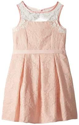 Us Angels Sleeveless Brocade Dress Girl's Dress