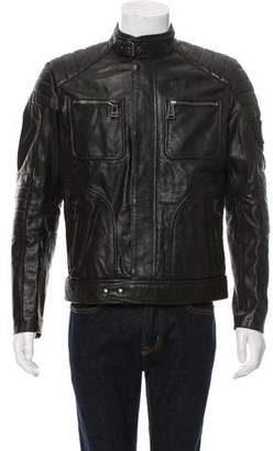 Belstaff Leather Cafe Racer Jacket