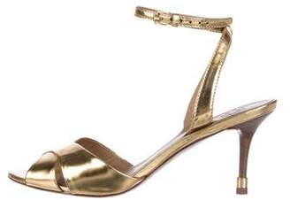 Tory Burch Patent Leather Slingback Sandals