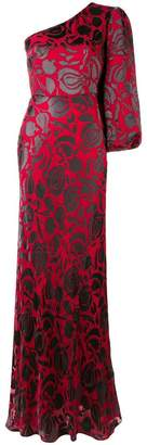 Saloni floral asymmetric gown