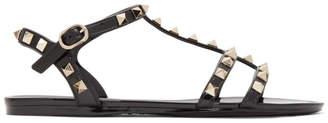 Valentino Black Garavani Rockstud Jelly Sandals