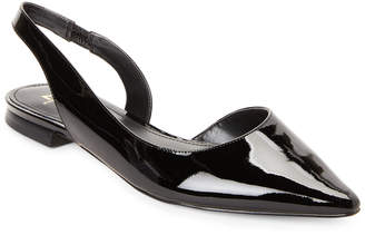 Marc Fisher Black Sessily Pointed Toe Slingback Flats