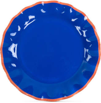 Coton Colors Mid Century Mix Indigo Ruffle Dinner Plate