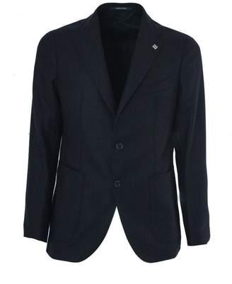 Tagliatore Dark Blue Wool And Cashmere Jacket.
