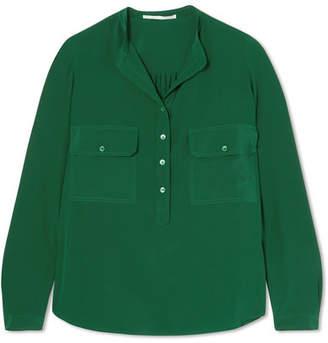 Stella McCartney Estelle Silk Crepe De Chine Shirt - Green
