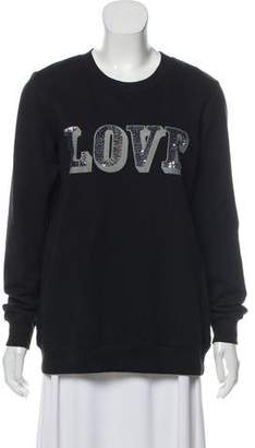 Markus Lupfer Sequin Text Sweatshirt