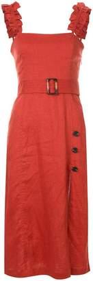 SUBOO belted midi dress