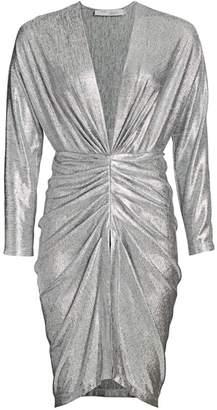 IRO Cilty Ruched Metallic Dress