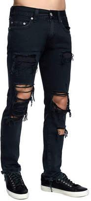True Religion Men's Rocco Skinny Destroyed Denim Jeans