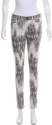 Vince Mid-Rise Printed Jeans