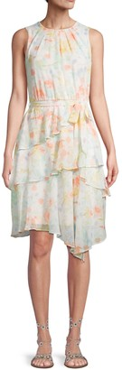Calvin Klein Collection Floral-Print Sleeveless A-Line Dress