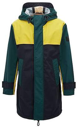 HUGO BOSS Relaxed-fit raincoat in two-layer performance fabric