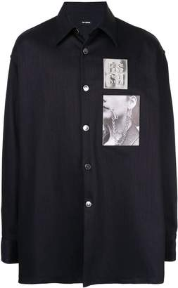 Raf Simons chest patch shirt