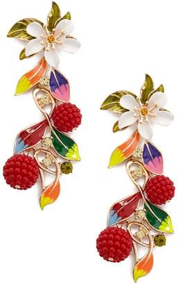 Forever 21 Floral Statement Earrings