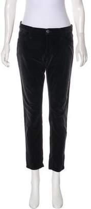 Current/Elliott Velvet Mid-Rise Pants