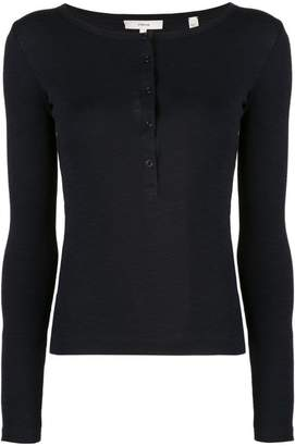Vince buttoned front top