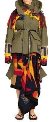 Sacai Pendleton Oxford Embroidred Coat