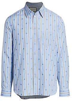 7015b41c4f Men's Bee Stripe Fil Coupé Cotton Shirt