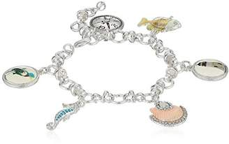 Napier Silver-Tone and Multi-Ocean Theme Charm Bracelet