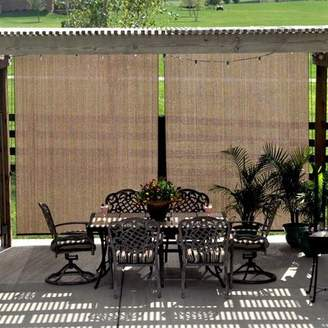 Coolaroo Semi-Sheer Mocha Outside Roller Shade