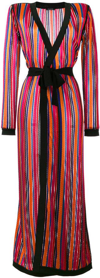 BalmainBalmain long open knit cardigan