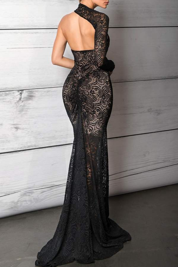 Savee Couture Savee One Shoulder Gown