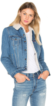 LEVI'S Authentic Faux Sherpa Trucker Jacket $148 thestylecure.com