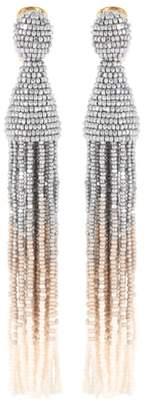 Oscar de la Renta Tasseled clip-on earrings