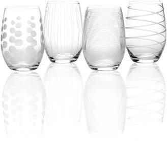 Mikasa Glassware, Set of 4 Cheers Stemless Wine Glasses