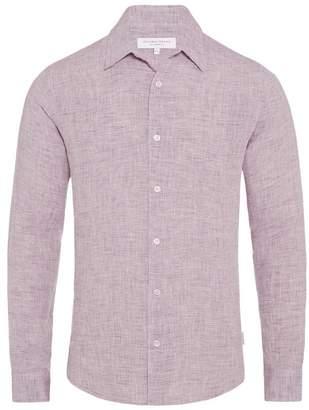 Orlebar Brown Morton Linen Tailored Shirt