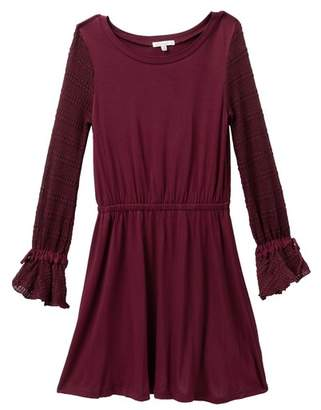 Ella Moss Sweater Sleeve Dress (Big Girls)