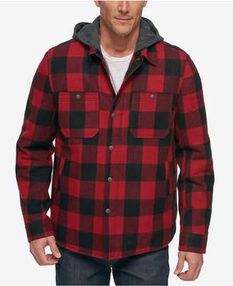 G.h. Bass & Co. Men's Buffalo Plaid Hooded Shirt Jacket