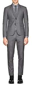Thom Browne Men's High-Armhole Checked Wool Three-Button Suit-Gray