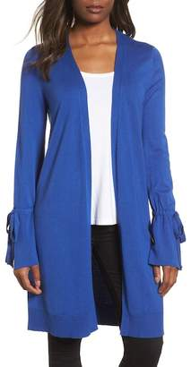 Halogen Lightweight Tie Sleeve Cardigan (Regular & Petite)