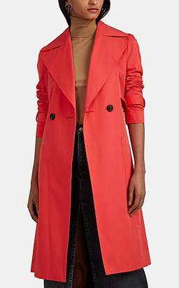THE LOOM Women's Cotton Double-Breasted Trench Coat - Red