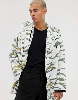 MHI Cargo Camo Long Line Jacket