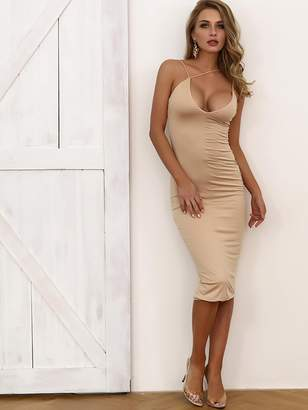 Shein Joyfunear Form Fitting Asymmetrical Strappy Dress