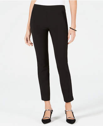 Alfani Petite Velvet-Stripe Skinny Pants