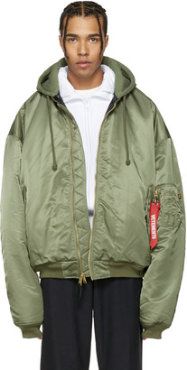 Vetements Reversible Green Alpha Industries Edition Bomber Jacket $2,365 thestylecure.com