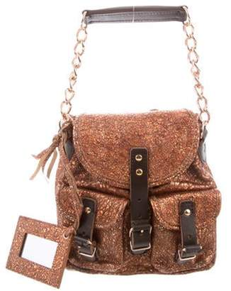 Balenciaga Metallic Leather Mini Bag Copper Metallic Leather Mini Bag