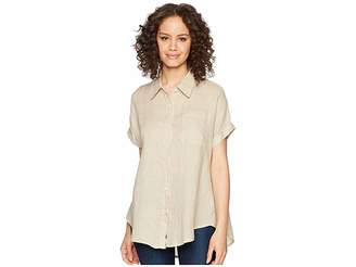 Allen Allen Short Sleeve Camp Shirt Women's Short Sleeve Button Up