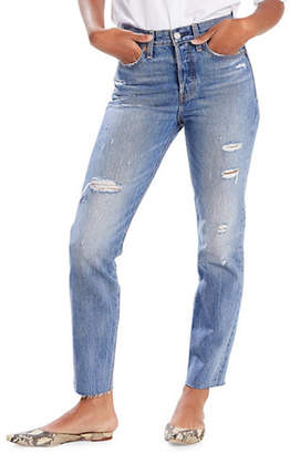Levi's Wedgie Fit High-Rise Cotton Jeans