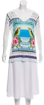Mary Katrantzou Bird Print Knit Top