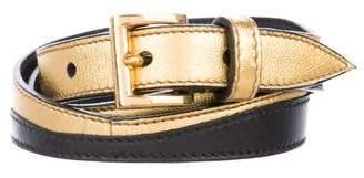 Prada Metallic Scalloped Belt