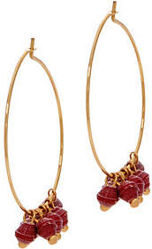 3.1 Phillip Lim Bits Goldtone Melah Hoop Earrings withDangling Beads