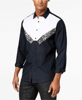INC International Concepts I.n.c. Men's Tuxedo-Inspired Shirt, Created for Macy's
