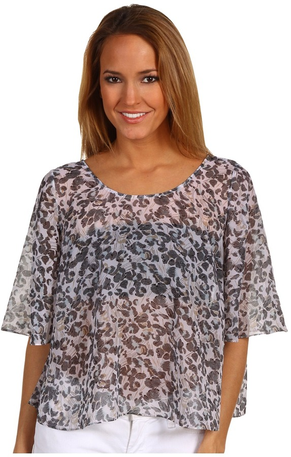 BCBGeneration Bell Sleeve Cape Top Women's Blouse