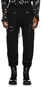 Haider Ackermann Men's Cotton Biker Jogger Pants-Black