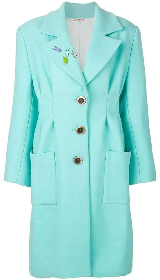 Natasha Zinko oversized bunny pin coat